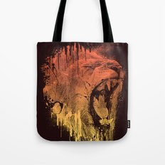 FIERCE LION Tote Bag