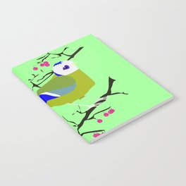 Blue tit with black eye Notebook