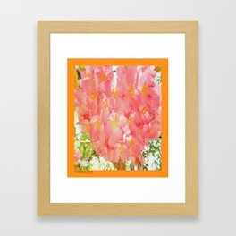 Mexico Blossom Pink & Yellow Flower Framed Art Print