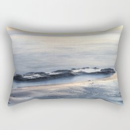 Seascape with beautiful rocks during a sunset. Costa del Sol, Andalusia, Spain. Rectangular Pillow