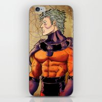 magneto iPhone & iPod Skins featuring magneto by Brian Hollins art