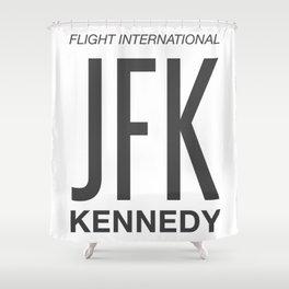 JFK TAG  Shower Curtain
