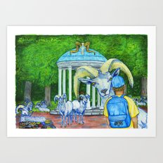 Locals Only  - Chapel Hill, NC Art Print