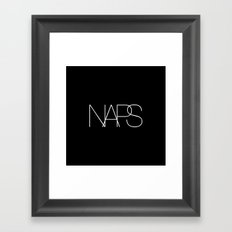 Naps Cosmetic Chic Black Typography Framed Art Print