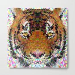 Tiger Triangle Mandala Metal Print