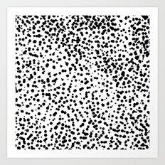 Retro Themed Dot Pattern Design Art Print