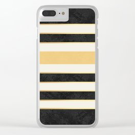 Marble stripes Clear iPhone Case