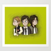 the perks of being a wallflower Art Prints featuring The Perks Of Being a Wallflower by Laia™