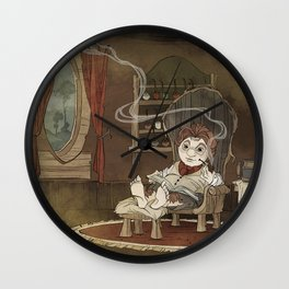 A Merrier World Wall Clock