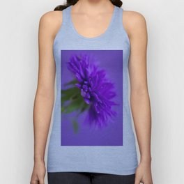 Close-up image of the flower Aster on purple background Unisex Tank Top