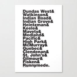 Junction& Canvas Print