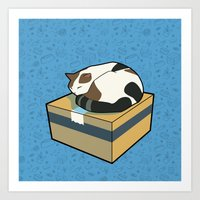 Sleeping Cat part 2 Art Print