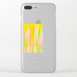 Yellow Sunshine Abstract Oil Painting Clear iPhone Case