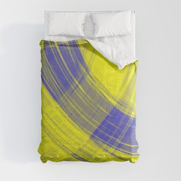 Checkered pillars of canary stripes of hanging flowing lines on velvet fabric.  Comforters