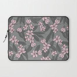 Sakura Branch Pattern - Ballet Slipper + Neutral Grey Laptop Sleeve
