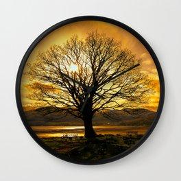 Tree of Fire Wall Clock