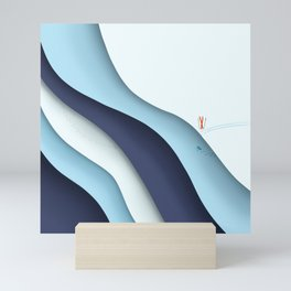 Layers of winter Mini Art Print