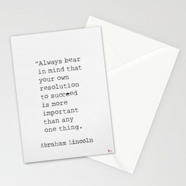 Abraham Lincoln quote about success Stationery Cards