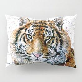 Tiger watercolor Pillow Sham