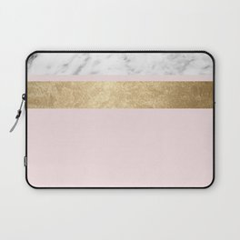 Baby doll - blush pink marble Laptop Sleeve