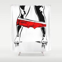Pants Down Shower Curtain
