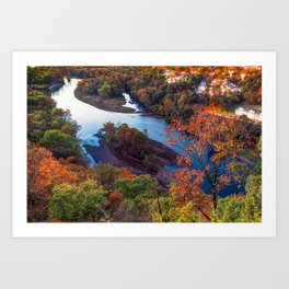 Route 165 Table Rock Overlook Autumn - Branson Missouri Art Print