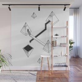 Space Pyramids Wall Mural