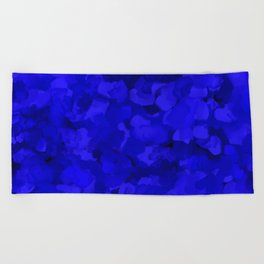 Rich Cobalt Blue Abstract Beach Towel