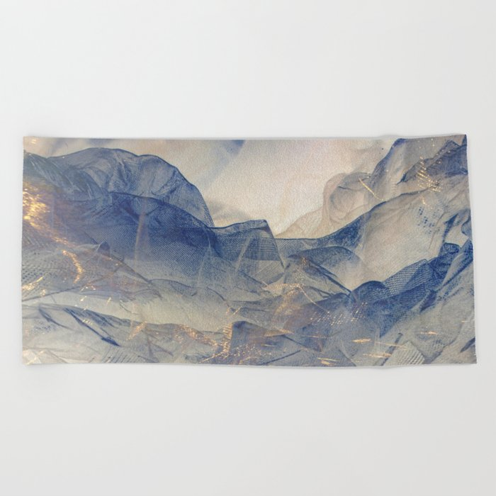 Tulle Mountains Beach Towel
