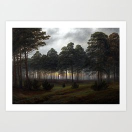 Caspar David Friedrich The Time of the Day, The Evening Art Print
