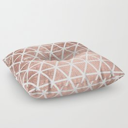 Geometric faux rose gold foil triangles pattern Floor Pillow