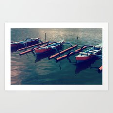 Little Boats Art Print