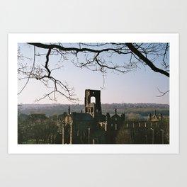 Kirkstall Abbey from the hill... Art Print
