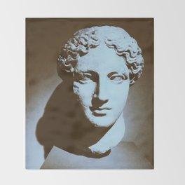 Head of a Goddess - photo Throw Blanket