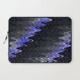 WAVY #2 (Black, Grays & Light Blue) Laptop Sleeve