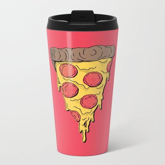Pizza Party! Metal Travel Mug