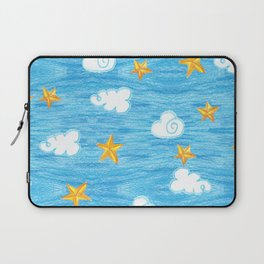 clouds and stars Laptop Sleeve