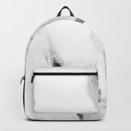 Abstract blur black and white circles monochrome Backpack