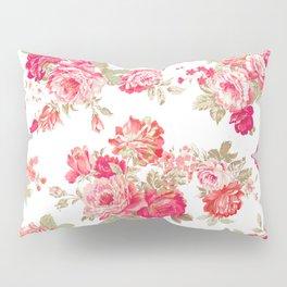 Elise shabby chic on white Pillow Sham