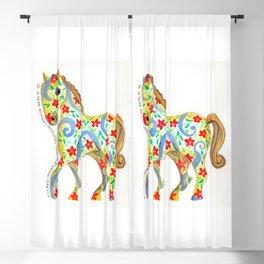 """""""caballo I"""" serie : animales dométicos. Blackout Curtain"""