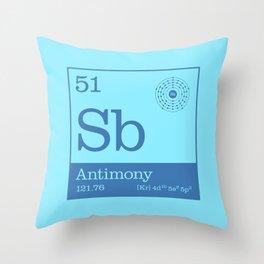 Periodic Elements - 51 Antimony (Sb) Throw Pillow