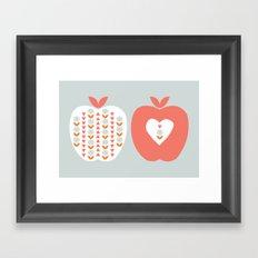 Scandi Apples Framed Art Print