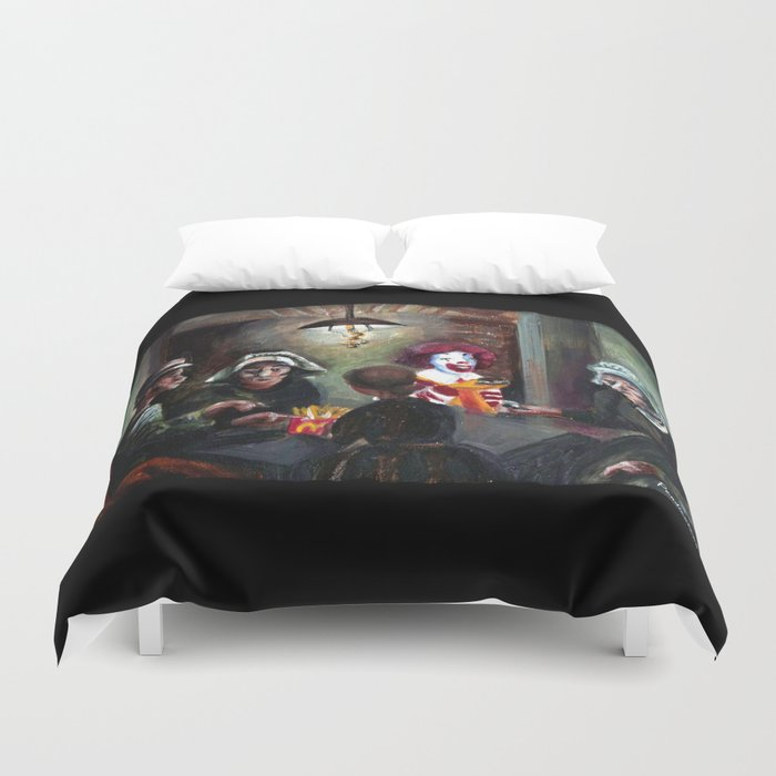 The McChips Eaters (Van Gogh) Duvet Cover
