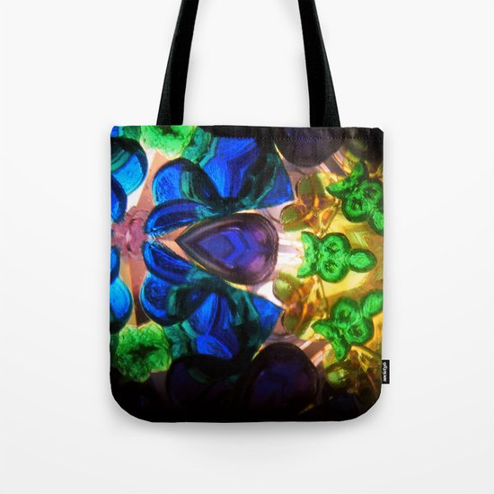 Kaleido: Blue, Green, Yellow Tote Bag