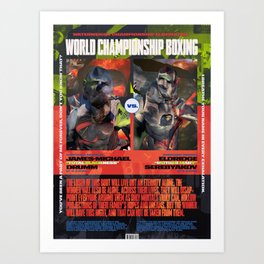 World Championship Boxing III Art Print