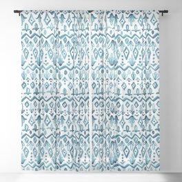 Mya Watercolor - White Sheer Curtain