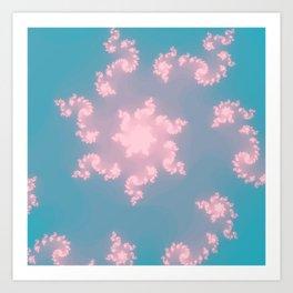 Summer Skies Of Love Art Print