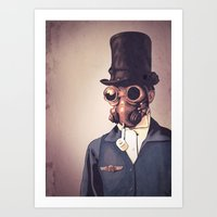 steampunk Art Prints featuring Steampunk by FalcaoLucas