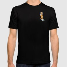 Male Gaze Astro Pinup Mens Fitted Tee Black MEDIUM
