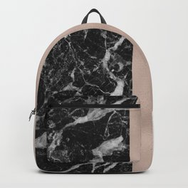 Marble in the night - rose gold Backpack